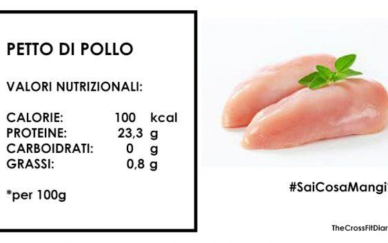 PETTO DI POLLO: MOLTE PROTEINE NOBILI E POCHI GRASSI.